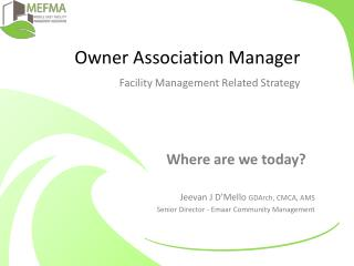 Owner Association Manager