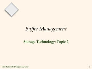 Buffer Management