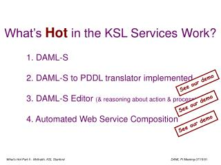 What's  Hot  in the KSL Services Work?