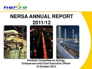 NERSA ANNUAL REPORT 2011/12