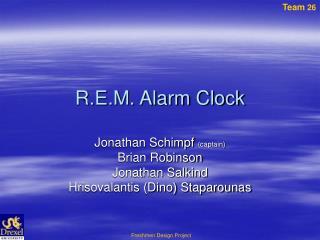 R.E.M. Alarm Clock