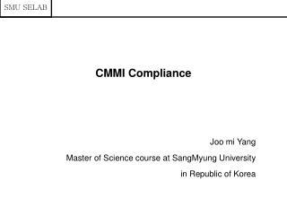 CMMI Compliance