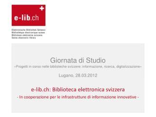e-lib.ch: Biblioteca elettronica svizzera