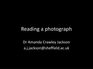 Reading a photograph