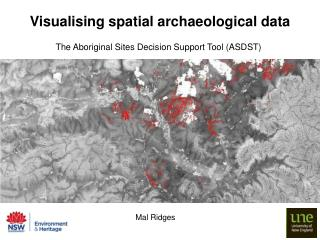 Visualising spatial archaeological data