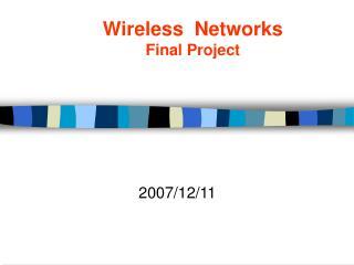 Wireless  Networks Final Project