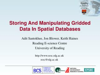 Storing And Manipulating Gridded Data In Spatial Databases