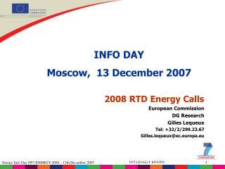 2008 RTD Energy Calls
