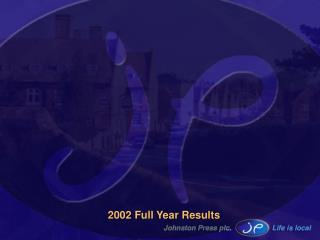2002 Full Year Results