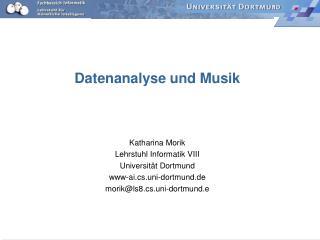 Datenanalyse und Musik