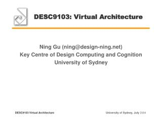 DESC9103: Virtual Architecture