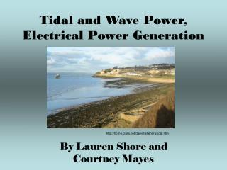 Tidal and Wave Power, Electrical Power Generation