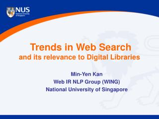 Trends in Web Search and its relevance to Digital Libraries
