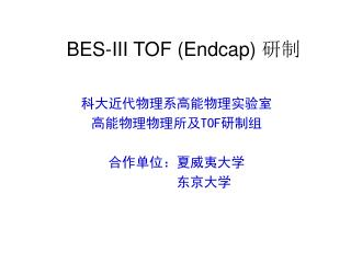 BES-III TOF (Endcap)  研制