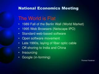 National Economics Meeting