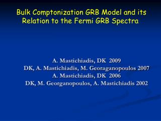Bulk Comptonization GRB Model and its Relation to the Fermi GRB Spectra