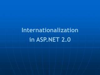 Internationalization in ASP.NET 2.0