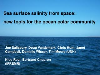 Sea surface salinity from space:  new tools for the ocean color community