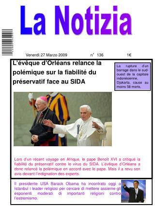 L'évêque d'Orléans relance la polémique sur la fiabilité du préservatif face au SIDA