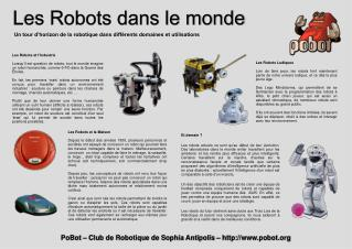 Les Robots dans le monde