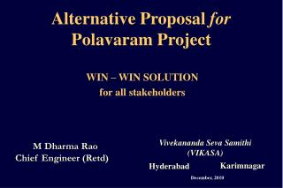 Alternative Proposal  for  Polavaram Project