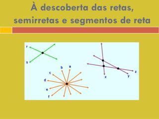 À descoberta das retas, semirretas e segmentos de reta