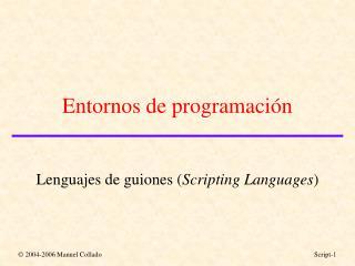 Entornos de programación