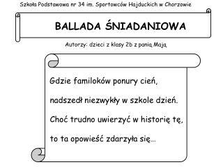 BALLADA ŚNIADANIOWA