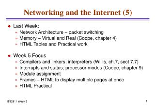 Networking and the Internet (5)
