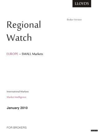 Regional         Watch   EUROPE – SMALL Markets