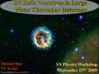 SN Relic Neutrinos in Large Water Cherenkov Detectors