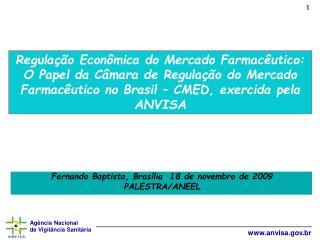 Fernando Baptista, Brasília  18 de novembro de 2009 PALESTRA/ANEEL