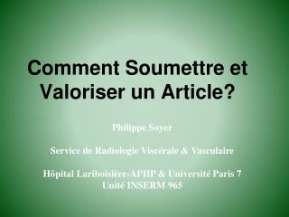 Comment Soumettre et Valoriser un Article?