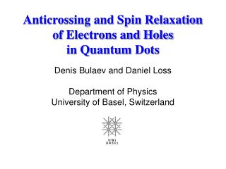 Anticrossing and Spin Relaxation  of Electrons and Holes  in Quantum Dots
