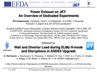 Power Exhaust on JET:  An Overview of Dedicated Experiments