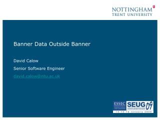Banner Data Outside Banner
