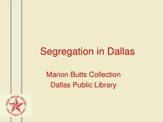 Segregation in Dallas