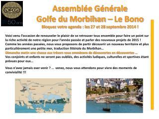 Assemblée Générale Golfe du Morbihan – Le Bono