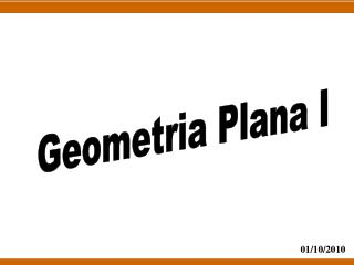 Geometria Plana I