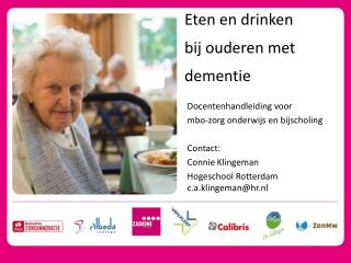Eten en drinken  bij ouderen met dementie