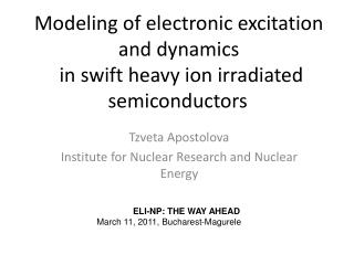 Modeling of electronic excitation and dynamics  in swift heavy ion irradiated semiconductors
