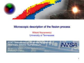 Microscopic description of the fission process Witold Nazarewicz University of Tennessee