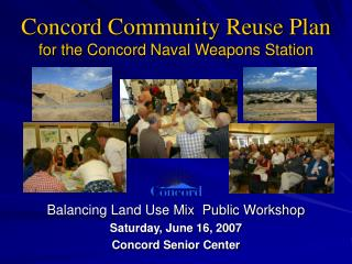 Concord Community Reuse Plan for the Concord Naval Weapons Station
