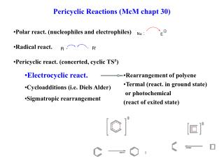 Pericyclic Reactions McM chapt 30