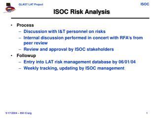 ISOC Risk Analysis