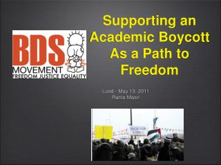 Supporting an Academic Boycott As a Path to Freedom
