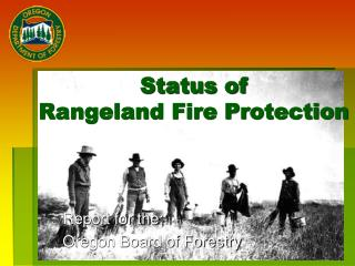 Status of  Rangeland Fire Protection