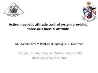 Active magnetic attitude control system providing three-axis inertial attitude