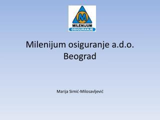 Milenijum osiguranje a.d.o. Beograd
