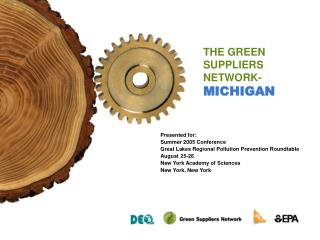THE GREEN SUPPLIERS NETWORK-MICHIGAN